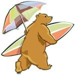 Surfing Beach Bear