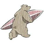 Surfing Brown Bear