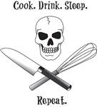 Cook. Drink. Sleep.