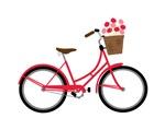 Bicycle Bike Flower Basket Sweet Ride