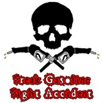 Freak Gasoline Fight Accident