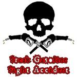 Freak Gasoline Fight Accident