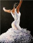 Flamenco Dancer in White