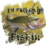Rather Be Fishing Bass Fishing Sportsman Humor T-