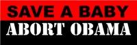 Save A Baby Abort Obama