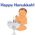 Hanukkah Menorah Baby
