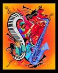 Red Hot Jazz Music Art