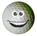 Happy golf ball
