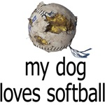 My dog loves softball