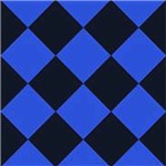 Bold Blue Diamond