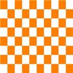 Orange and white checkerboard