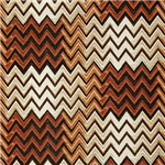 Cool Weather Brown Zigzags