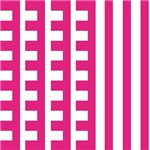 Hot Pink Teeth Stripes