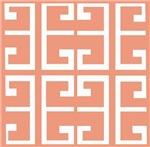 Peach and White Tile