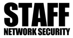 Staff T-shirts: Network security.