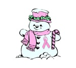 Breast Cancer Christmas Gifts. Snowman with the pi