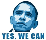 Yes, We Can. Obama T-shirts. Beacuse you still bel