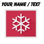Custom Red Snowflake Icon