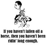 Haven't Fallen Off A Horse