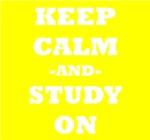 Keep Calm And Study On (Yellow)