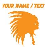 Custom Orange Indian Headdress Outline