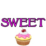 Sweet with cupcake
