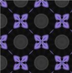 Glowing Blue Flower Pattern