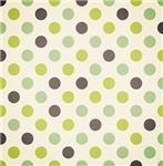 Cute Green and Purple Polka Dots