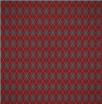 Classic Red and Gray Argyle Pattern
