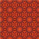 Orange Bursting Star Pattern