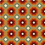 Expanding Orange Octagons Pattern
