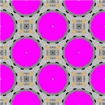 Bright Pink Digital Octagon Pattern