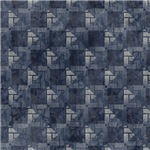 Contemporary Blue Interconnecting Squares Pattern
