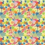 Blue, Green, and Yellow Circles Pattern