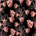 Deep Pink Vine Flowers Pattern