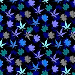 Blue and Green Leaf Pattern