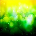 Sparkly Green and Yellow Clouds