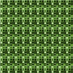 Green Crazy Squares Pattern