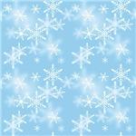 Light Blue Sparkly Snowflakes