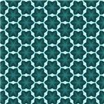 Dark Turquoise Six Point Star Pattern
