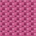 Cute Pink Hearts Pattern
