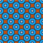 Blue Circles Pattern On Orange