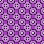 Purple Circles In Circles Pattern