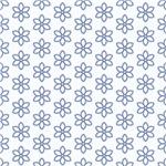 Pretty Blue Flower Outlines Pattern
