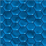 Liquid Blue Honeycomb Pattern