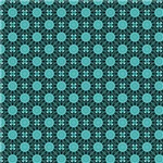 Turquoise India Inspired Circle Pattern