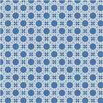 Blue India Inspired Circles Pattern