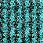 Light and Dark Turquoise Scribble Stripes Abstract