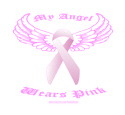 BREAST CANCER MY ANGEL WEARS PINK T-SHIRTS