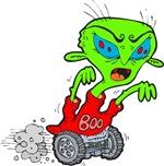 Creepy Halloween Alien Rolling